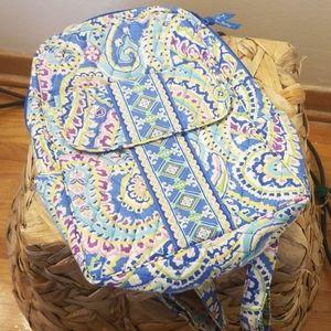 Vera Bradley backpack, light blue paisley print